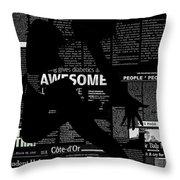 Paper Dance Throw Pillow by Naxart Studio