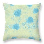 Paper Flowers - Aqua Throw Pillow