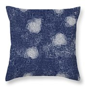Paper Flowers Abstract - White Throw Pillow