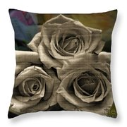 Paper Roses Art Throw Pillow