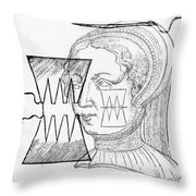 Par� Suture, 1500s Throw Pillow by Science Source