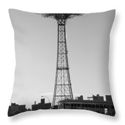 Parachute Drop In Black And White Throw Pillow