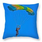 Parachuting Throw Pillow