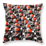 Parade March Indian Army Throw Pillow