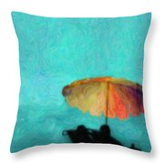 Paradise By The Sea Throw Pillow
