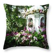 Paradise Gazebo Throw Pillow