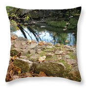 Paradise Springs Stone Wall Throw Pillow