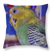 Parakeet Throw Pillow