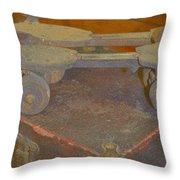Parallel Skates Throw Pillow by Diane montana Jansson