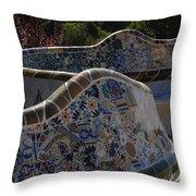 Parc Guell Barcelona Throw Pillow