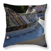 Parc Guell Spain Throw Pillow