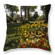 Parc Les Invalides In Spring Throw Pillow