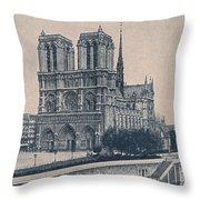 Paris - Notre Dame Throw Pillow