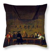 Paris: Billiards, 1725 Throw Pillow