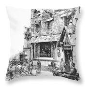 Paris: Cafe, 1889 Throw Pillow