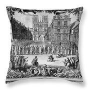 Paris: Catholic Procession Throw Pillow