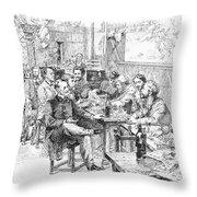 Paris: Chat Noir, 1889 Throw Pillow