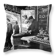 Paris: Chestnut Vendor Throw Pillow