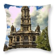 Paris Church Throw Pillow