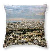 Paris City View Throw Pillow