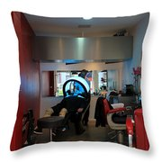Paris Coiffure Throw Pillow