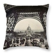 Paris Exposition, 1889 Throw Pillow