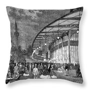Paris: Exposition Of 1867 Throw Pillow