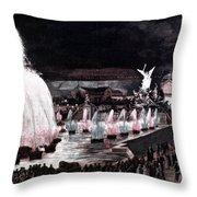 Paris: Fountains, 1889 Throw Pillow