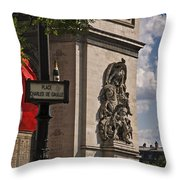 Paris Frame Of Mind Throw Pillow