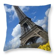 Paris, France Throw Pillow