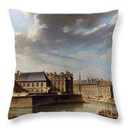 Paris: Ile Saint-louis Throw Pillow