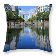 Paris La Defense 3 Throw Pillow