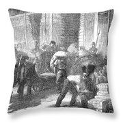 Paris: Les Halles, 1870 Throw Pillow