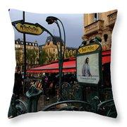 Paris Metro 1 Throw Pillow