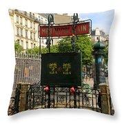 Paris Metro 3 Throw Pillow