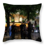 Paris Musicians Throw Pillow