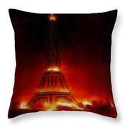 Paris Nights Throw Pillow