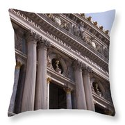 Paris Opera House IIi   Exterior Throw Pillow