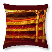 Paris Opera House Iv   Box Seats Throw Pillow
