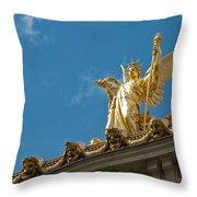 Paris Opera House V   Exterior Facade Throw Pillow
