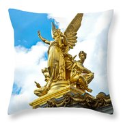Paris Opera House Vi  Exterior Facade Throw Pillow