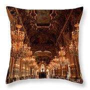 Paris Opera House Vi Throw Pillow