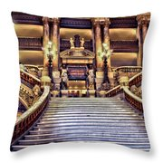 Paris Opera House Vii  Grand Stairway Throw Pillow