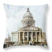 Paris: Pantheon, 1835 Throw Pillow