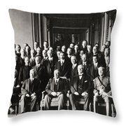 Paris Peace Conference Throw Pillow