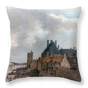 Paris: Pont Neuf, 1637 Throw Pillow