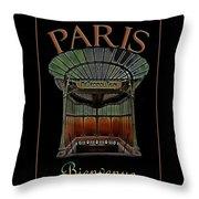 Paris Poster Art 1 Throw Pillow