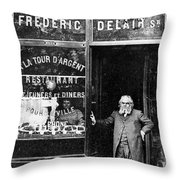 Paris: Restaurant, 1890s Throw Pillow