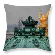 Paris Rooftops 1 Throw Pillow