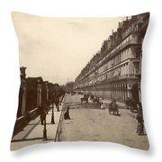 Paris: Rue De Rivoli, C1900 Throw Pillow